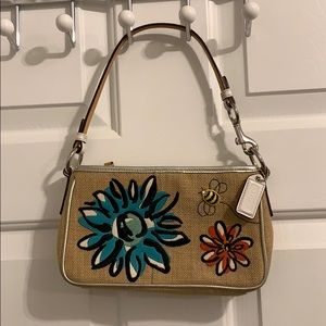 Coach embroidered purse
